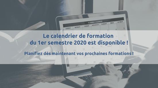 Calendrier des formations Informatique et bureautique 2020